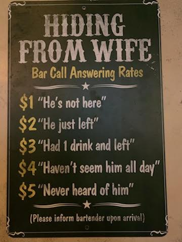 Bar picture of hiding from wife estimates